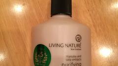 Отзыв: Очищающее жидкое мыло с манукой для рук Living Nature
