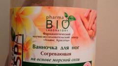 Отзыв: Ванночка для ног согревающая на основе морской соли Pharma Bio