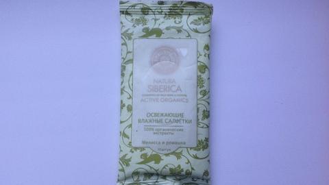 Отзыв: Салфетки освежающие с мелиссой и ромашкой Natura Siberica