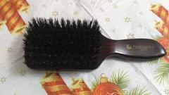 Отзыв: Моя первая расчёска из натуральной щетины.