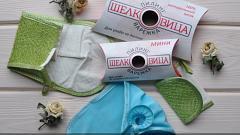 Отзыв: Пилинг-варежка для тела Салатовая Шелковица