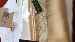 Отзыв: Шелковое полотенце для волос из 100% натурального шелка-атласа Шелковая мануфактура