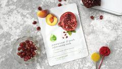 """Отзыв: Тканевая маска разглаживающая """"Гранат и персик"""" Skinfood - вкусная диета для вашей кожи!"""