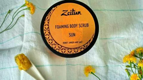 """Отзыв: Пенящийся скраб """"Солнце"""" от Zeitun пахнет конфетками🍬"""