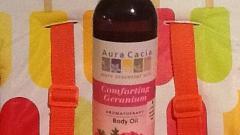 Отзыв: Масло для тела с геранью Aura Cacia