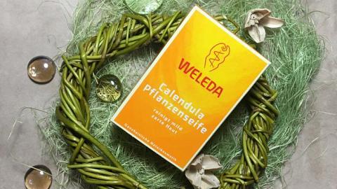 Отзыв: Растительное детское мыло с календулой Weleda
