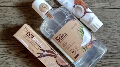 """Отзыв: Зубная паста """"Защита от зубного камня"""" с кокосом от Ecodenta+ополаскиватель (Финские истории)"""