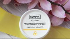 """Отзыв: Маска для лица """"Белая глина и масло льна"""" от Ecobox - бюджетная косметика тоже работает!"""
