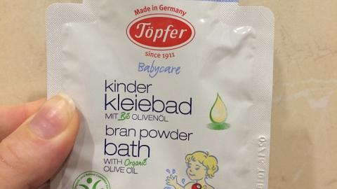 Отзыв: Детская смесь для купания с отрубями и маслом оливы Topfer