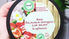 Отзыв: Для Клубникоманов - Клубничный Био бальзам-йогурт для волос от компании Триумф Красоты (бренд Nice Day)