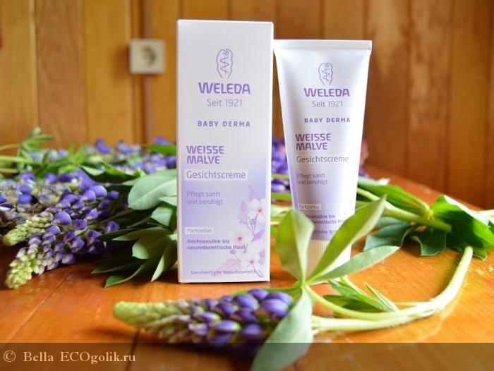 Крем для гиперчувствительной кожи лица с алтеем Weleda - отзыв Экоблогера Bella
