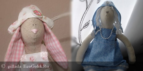 Как сделать куклу Тильду. Заяц Тильда.