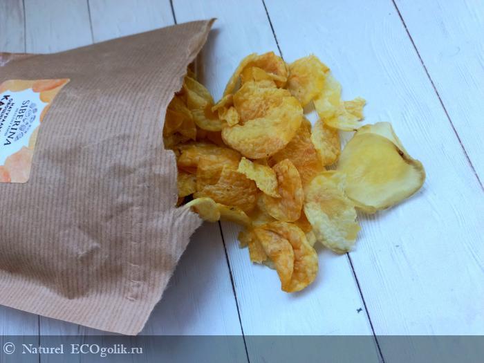 Натуральные овощные чипсы «Картошка с морской солью» от бренда Siberina - отзыв Экоблогера Naturel