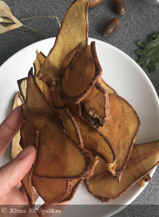 Натуральные фруктовые чипсы Груша от  Siberina: пробуем и сравниваем с самодельными домашними - отзыв Экоблогера Юлия