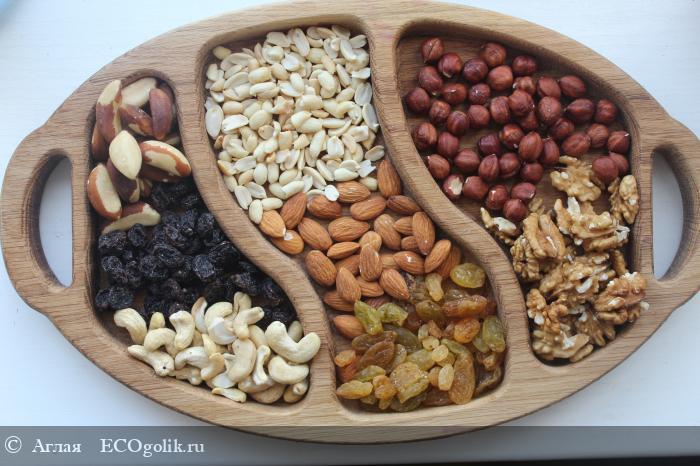 Шесть видов орехов и два вида изюма - это очень вкусный и с дорогим наполнением бокс от Сиберины! - отзыв Экоблогера Аглая