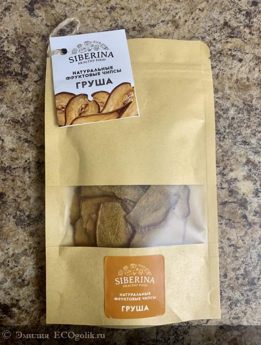 Натуральные фруктовые чипсы «груша» от SIBERINA - отзыв Экоблогера Эмилия