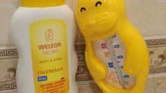 Отзыв: Детское купание с календулой и лекарственными травами Weleda