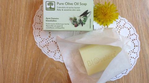 Отзыв: Натуральное оливковое мыло с календулой и маслом каритэ BIOselect