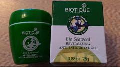 Отзыв: Гель для кожи вокруг глаз для снятия усталости с экстрактом морских водорослей Biotique BIOTIQUE