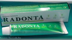 Отзыв: Вечерняя зубная паста Radonta
