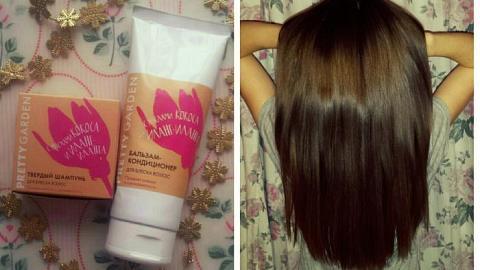 Отзыв: Блеск и гладкость волос от Pretty Garden.Часть 2. Бальзам - кондиционер для блеска волос.