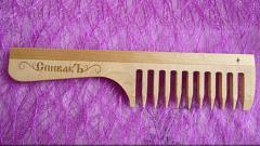 Отзыв: Расчёска с ручкой деревянная,большая СпивакЪ